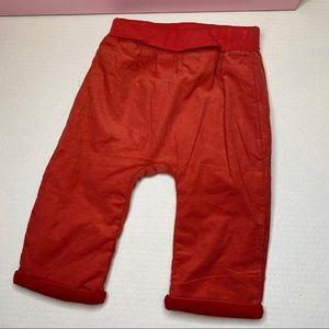 Catimini Baby Twill Lined Red Orange Pants 9 m
